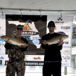 Team ProFormance's Colin Philips and Nate Clardy with their winning catch.