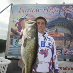 Connor Seay with his 6 lb. 11 oz. Big Bass
